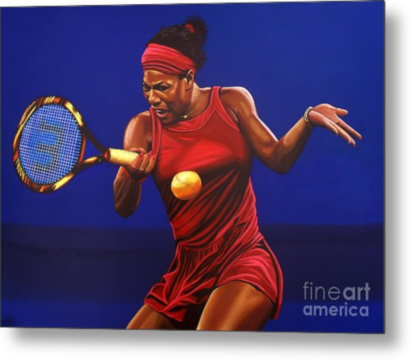 Serena Williams Painting Metal Print