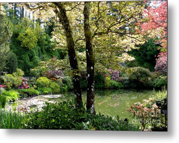 Serene Garden Retreat Metal Print