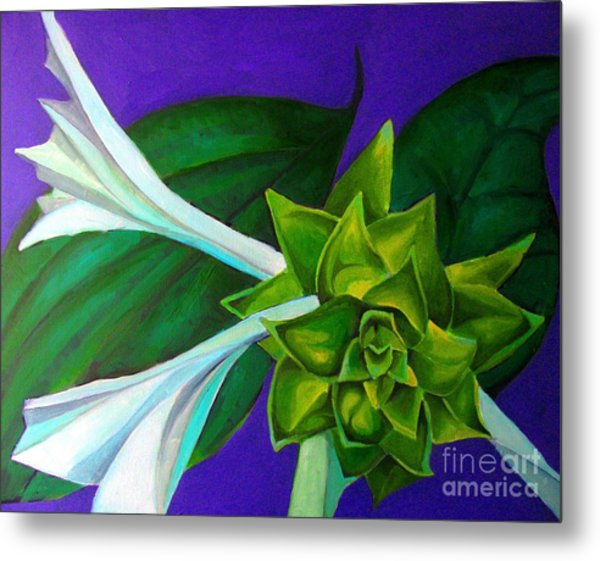 Serene Green One Metal Print