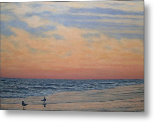 Serenity - Dusk At The Shore Metal Print