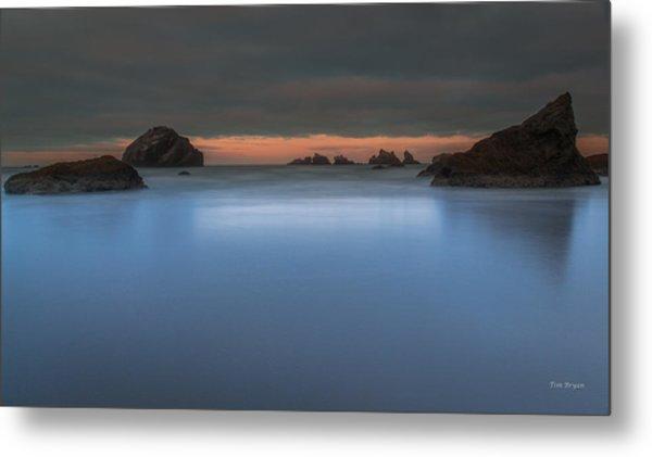 Serenity In Blue.... Bandon Metal Print