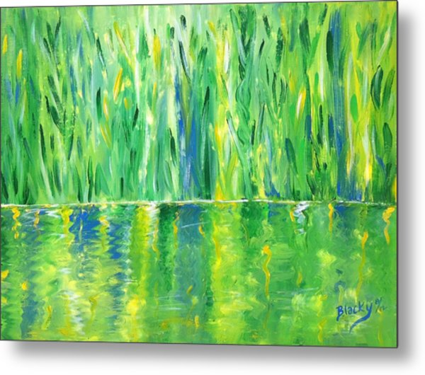 Serenity In Green Metal Print