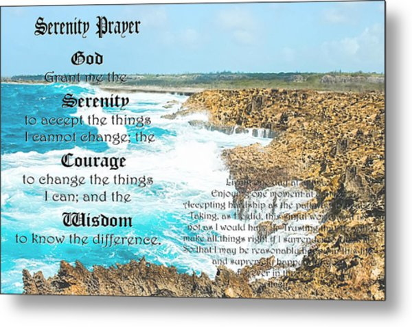 Serenity Prayer For Turbulent Times Metal Print