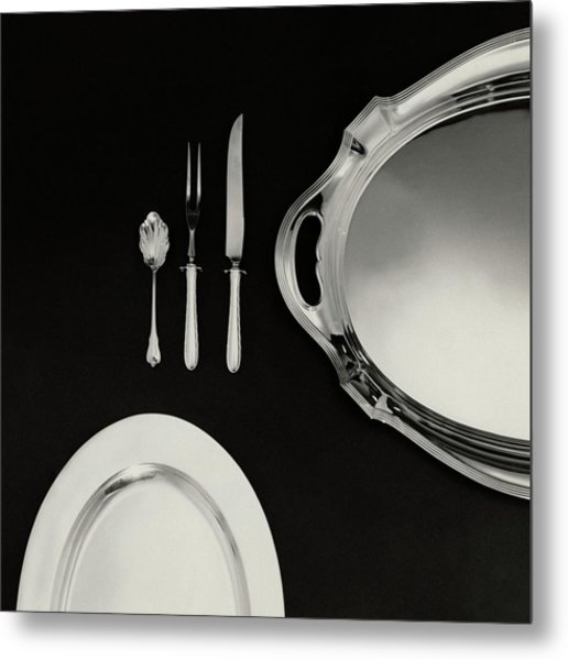 Serving Dishes And Utensils Metal Print