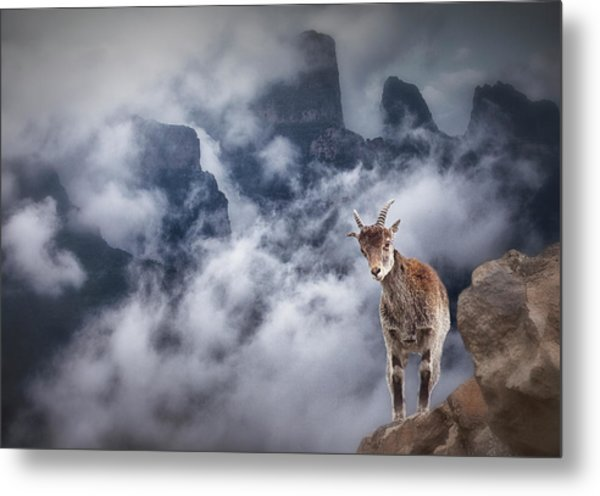 Sesmien Mountains Metal Print by Marc Apers
