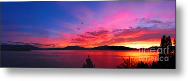 Setting The Night On Fire Metal Print