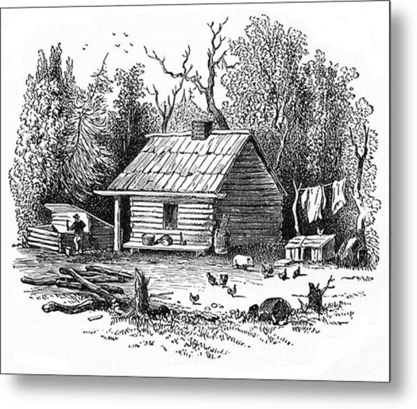 Settler's Log Cabin - 1878 Metal Print
