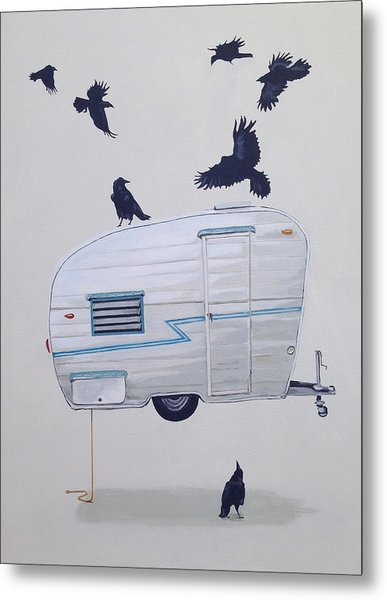 Seven Crows And A Canned Ham Metal Print