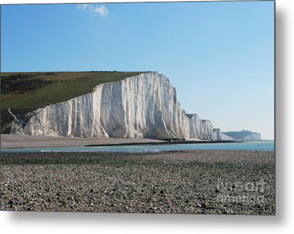 Seven Sisters Chalk Cliffs Metal Print
