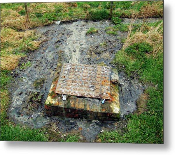 Sewage Metal Print