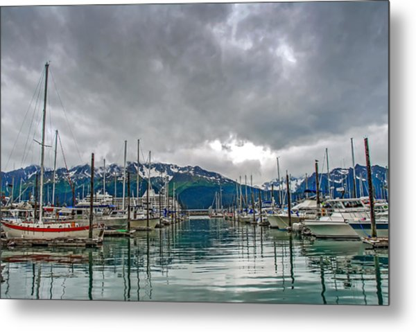 Seward Harbour Alaska Metal Print