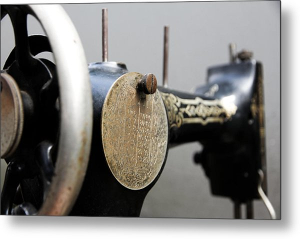 Sewing Machine 4 Metal Print