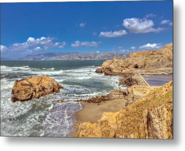 Sf Beach In Hdr Metal Print
