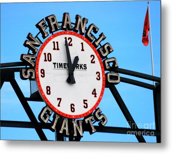 San Francisco Giants Baseball Time Sign Metal Print