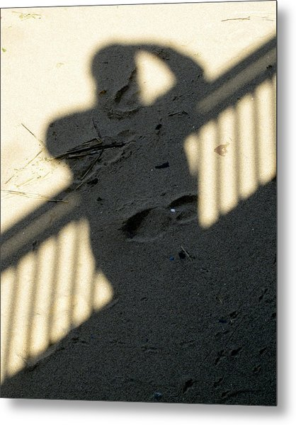 Shadow In The Sand Metal Print