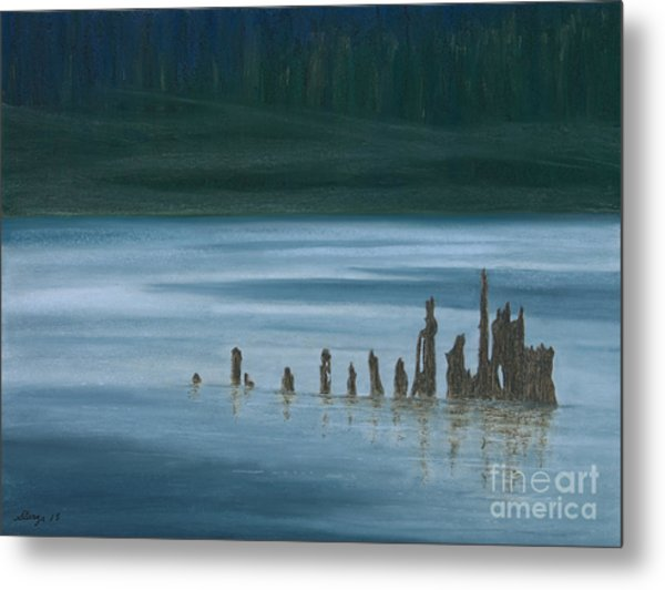 Shadow Host In The Mist Metal Print