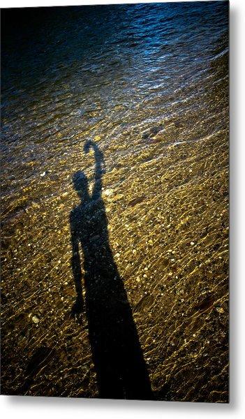 Shadow On The Water Metal Print