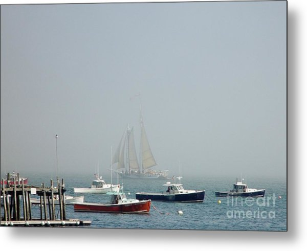 Shadow Ship Metal Print
