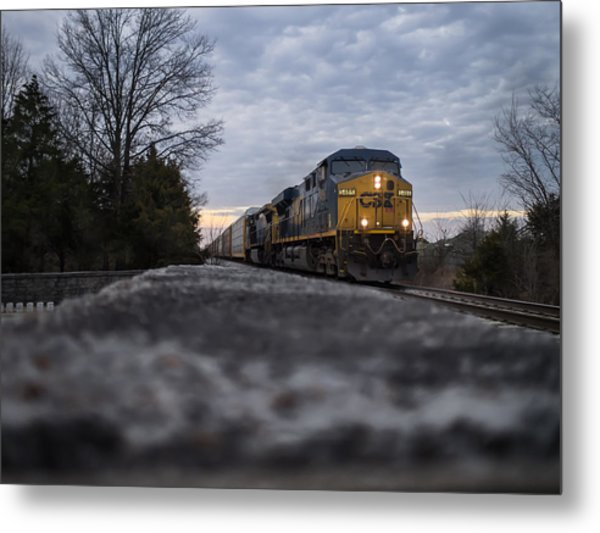 Shadow Train Metal Print
