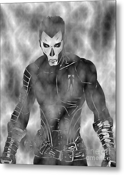 Shadowman In The Dead Grounds Metal Print