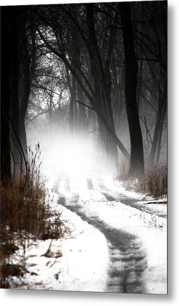 Shadows And Mist At Mentha Metal Print