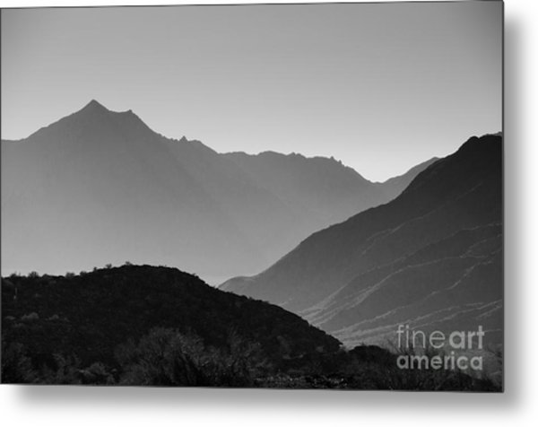 Shadows Of Peaks Metal Print