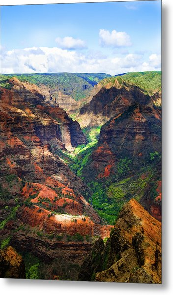 Shadows Of Waimea Canyon Metal Print