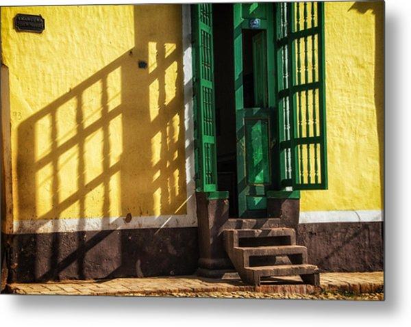 Shadows On The Wall Metal Print