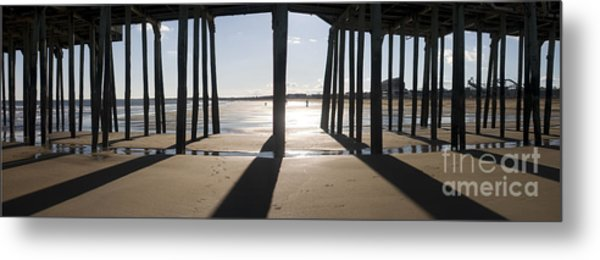 Shadows Under The Pier Metal Print