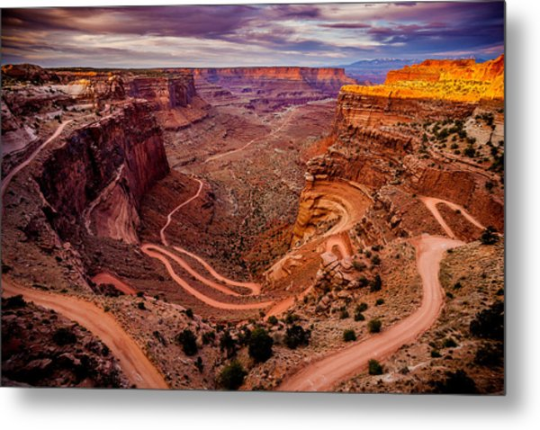 Shafer Trail Horizontal Metal Print