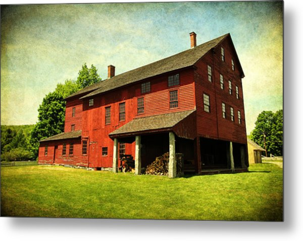 Shaker Village Barn Metal Print