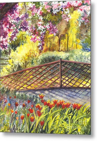 Shakespeare Garden Central Park New York City Metal Print
