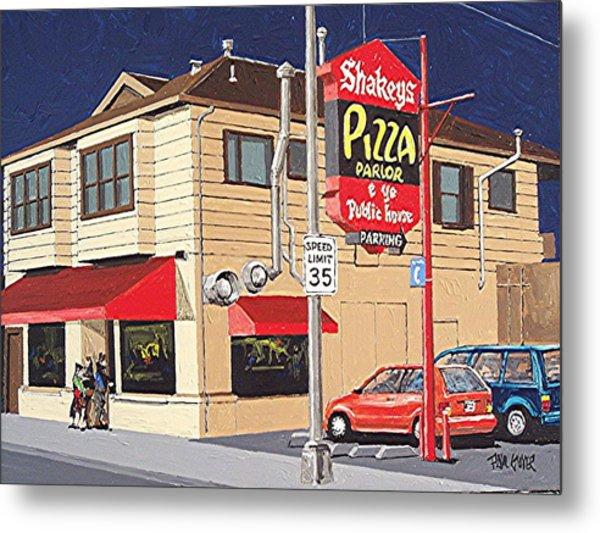 Shakey's Pizza Metal Print by Paul Guyer