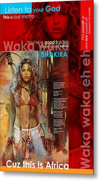 Shakira Art Poster Metal Print