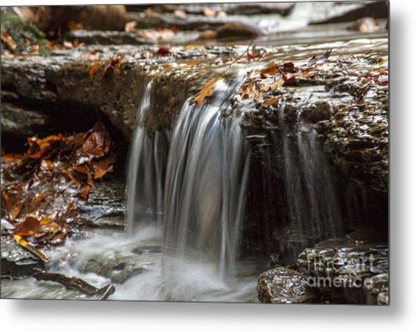 Shale Creek In Autumn Metal Print