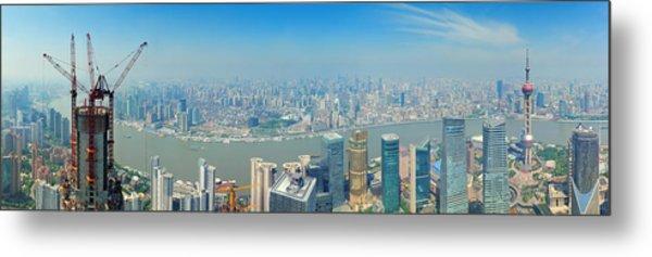 Shanghai Panorama Metal Print