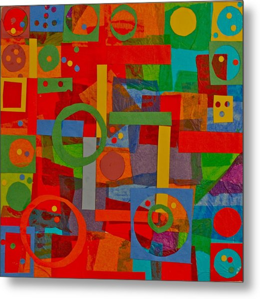 Shapes In Hues In Motion Metal Print by Patrick Beamish