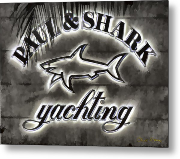Shark Sign Metal Print