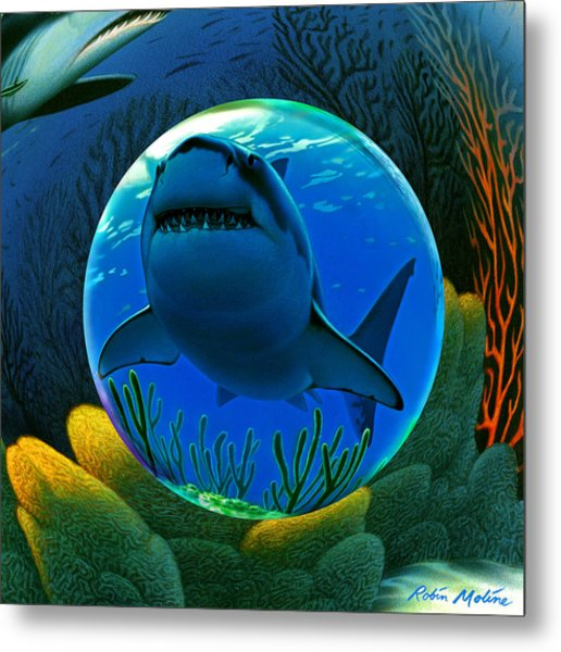 Shark World  Metal Print
