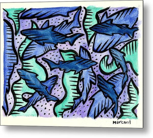 Sharkpac... Metal Print