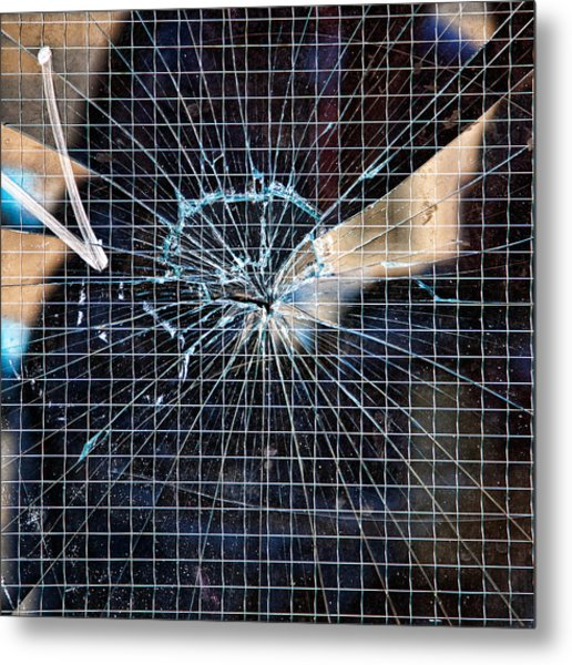 Shattered But Not Broken Metal Print by Peter Tellone