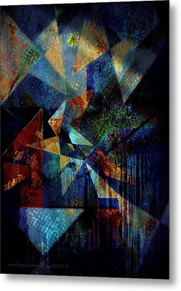 Shattered Reflections Metal Print
