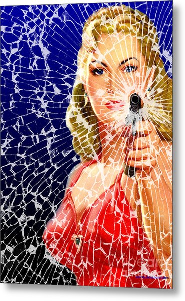 Shattered Metal Print