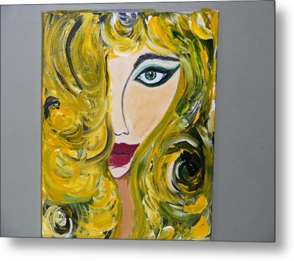 She Insists Metal Print by Kim St Clair