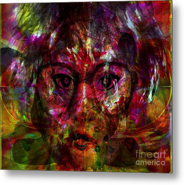 She Is Present But Very Absent Metal Print by Fania Simon