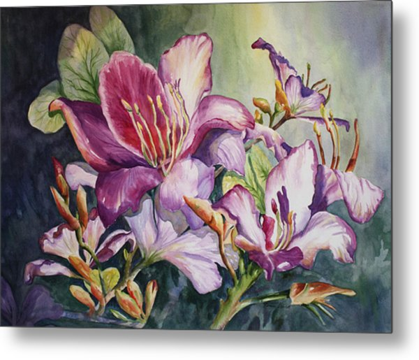 She Love Radiant Orchids Metal Print