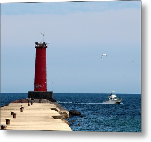 Sheboygan Breakwater Lighthouse Metal Print