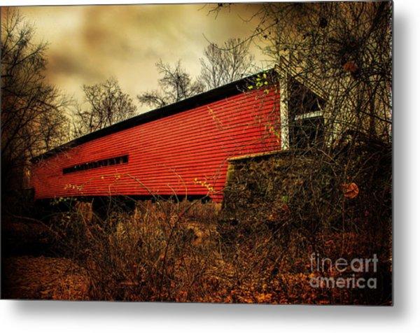 Sheeder Hall Covered Bridge 2 Metal Print