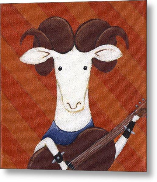 Sheep Guitar Metal Print