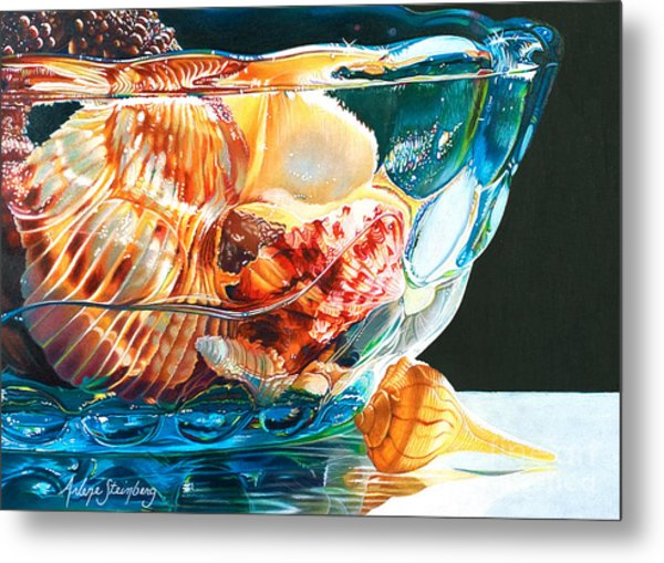 Shell Game Metal Print by Arlene Steinberg